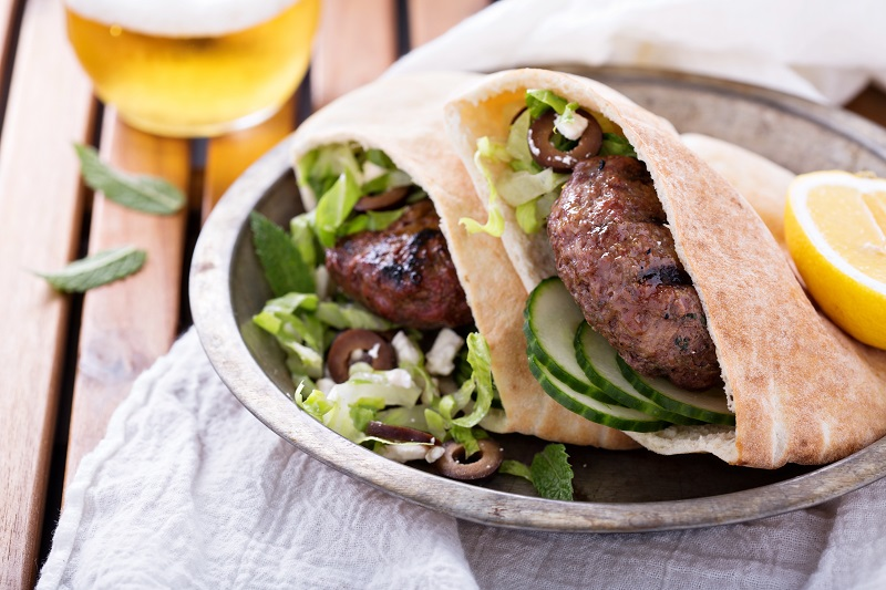 Misty Lane Lamb Meatball Pitas